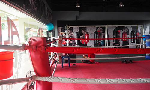 ボクシングジムのリング