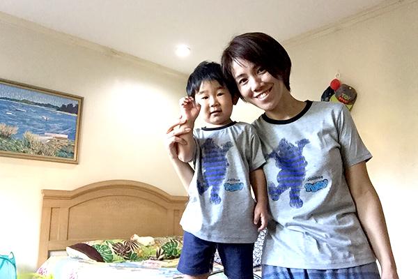 横山絵里さんおやこ(男の子2歳)