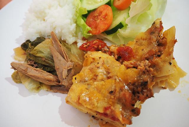 語学学校の食事の写真